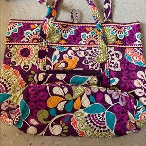 Vera Bradley large tote bag